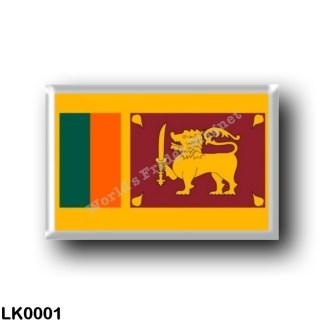 LK0001 Asia - Sri Lanka - Flag