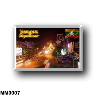 MM0007 Asia - Myanmar Burma - Yangon By Night