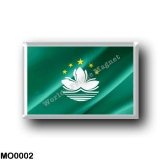 MO0002 Asia - Macau - Flag Waving