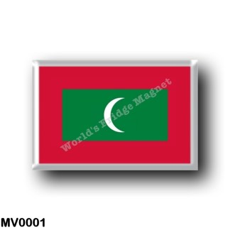 MV0001 Asia - Maldives - Flag