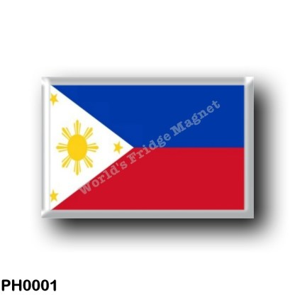 PH0001 Asia - Philippines - Flag