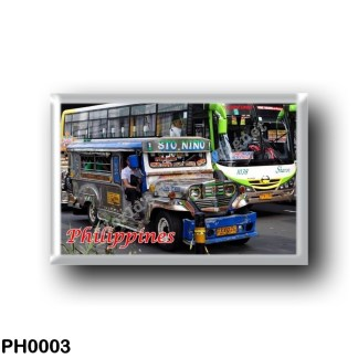 PH0003 Asia - Philippines - Jeepney and Bus
