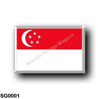 SG0001 Asia - Singapore - Flag
