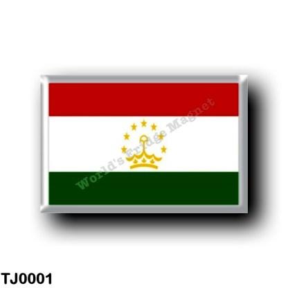 TJ0001 Asia - Tajikistan - Flag