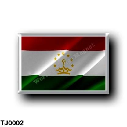 TJ0002 Asia - Tajikistan - Flag Waving