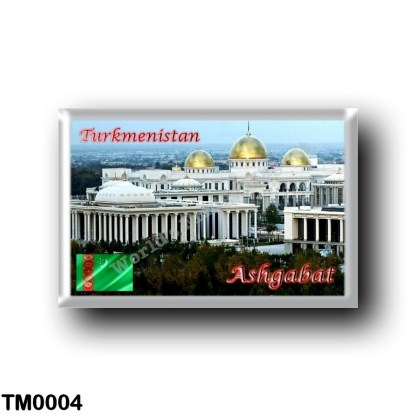 TM0004 Asia - Turkmenistan - Ashgabat - Panorama