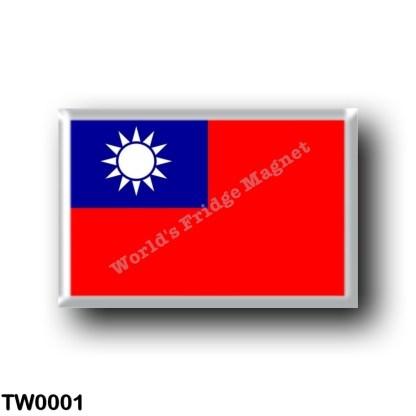 TW0001 Asia - Republic of China - Taiwan - Flag