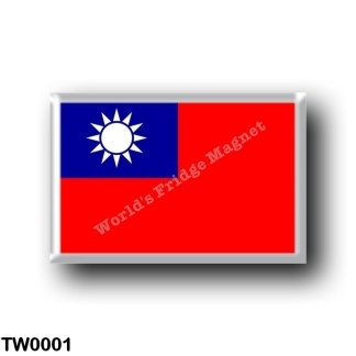 TW0001 Asia - Republic of China - Taiwan - Flag