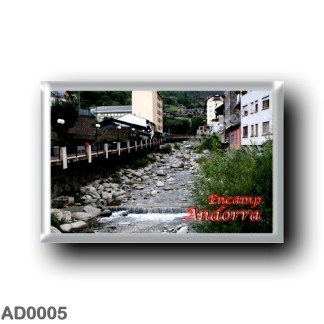 AD0005 Europe - Andorra - Encamp - El río Valira