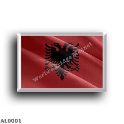 AL0001 Europe - Albania - Waving Albanian Flag