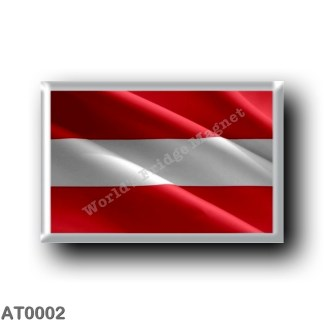 AT0002 Europe - Austria - Austrian Waving Flag