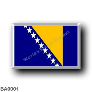 BA0001 Europe - Bosnia and Herzegovina - Flag