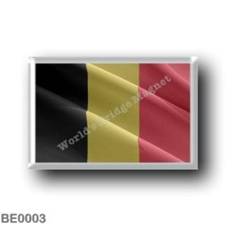 BE0003 Europe - Belgium - Belgian flag - waving