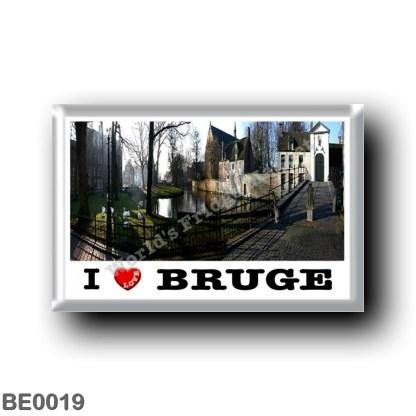 BE0019 Europe - Belgium - Bruges - L'extérieur du béguinage.