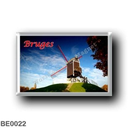 BE0022 Europe - Belgium - Bruges - Moulin
