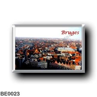 BE0023 Europe - Belgium - Bruges - Vue du Beffroi