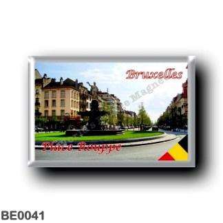 BE0041 Europe - Belgium - Brussels - Bruxelles - Place Rouppe et avenue de Stalingrad