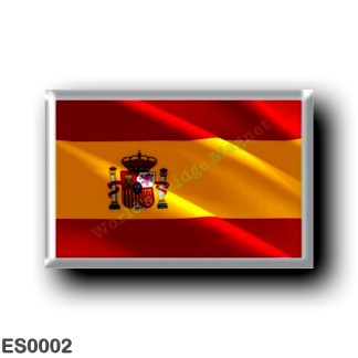 ES0002 Europe - Spain - Spanish flag - Waving