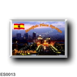 ES0013 Europe - Spain - Barcelona - Montjuic Placa Espanya