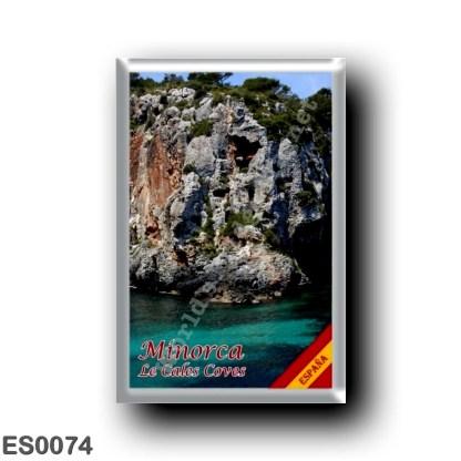 ES0074 Europe - Spain - Balearic Islands - Majorca - Menorca - Le Cales Coves