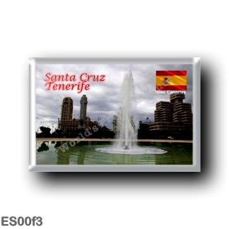 ES00f3 Europe - Spain - Canary Islands - Tenerife - Santa Cruz - Plaza de Espana