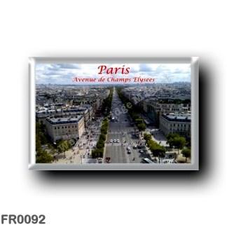 FR0092 Europe - France - Paris - Avenue de Champs Elysees