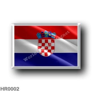 HR0002 Europe - Croatia - Croatian flag - waving