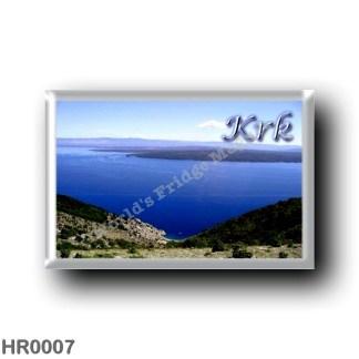 HR0007 Europe - Croatia - Krk from Cres - Veglia