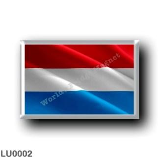 LU0002 Europe - Luxembourg - flag - waving