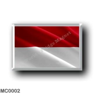 MC0002 Europe - Monaco - Waving Flag