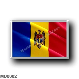 MD0002 Europe - Moldova - Flag - Waving