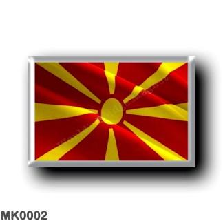 MK0002 Europe - Macedonia - Macedonian flag - waving