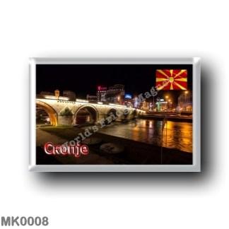 MK0008 Europe - Macedonia - Skopie - Ponte sul fiume Vardar