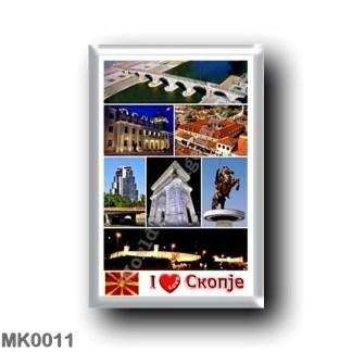 MK0011 Europe - Macedonia - Skopje - I Love