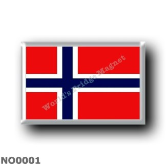 NO0001 Europe - Norway - Flag Norwegian
