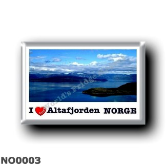 NO0003 Europe - Norway - Altafjorden - I Love