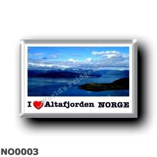 NO0003 Europe - Norway - Altafjorden - I Love
