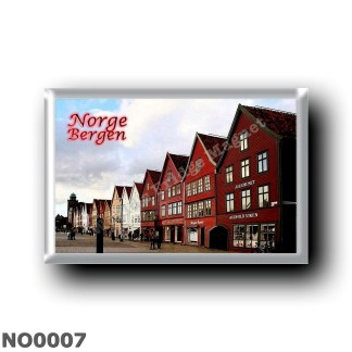 NO0007 Europe - Norway - Bergen - district of Bryggen