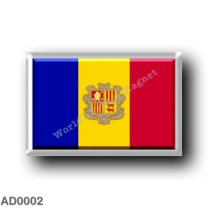 AD0002 Europe - Andorra - Flag