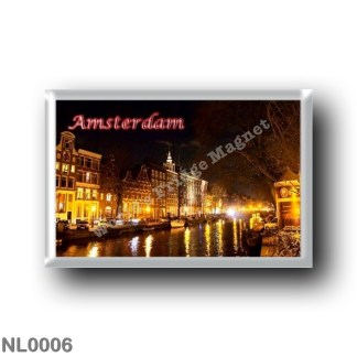 NL0006 Europe - Holland - Amsterdam - Panorama At Night