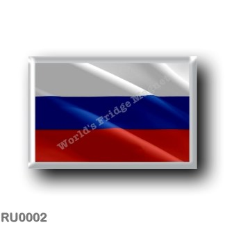 RU0002 Europe - Russia - Flag Russian - waving