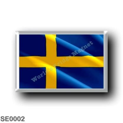 SE0002 Europe - Sweden - Europe - Sweden - Swedish flag - waving