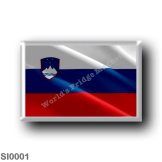 SI0001 Europe - Slovenia - Slovenian flag - waving
