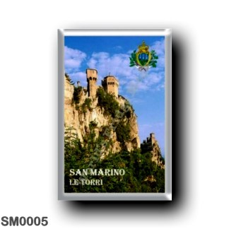 SM0005 Europe - San Marino - The two Towers