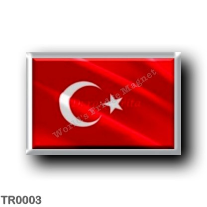 TR0003 Europe - Turkey - Turkish flag - waving