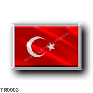 TR0003 Europe - Turkey - Turkish flag - waving