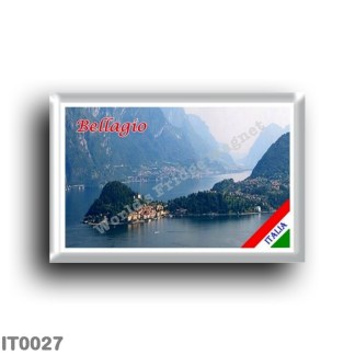 IT0027 Europe - Italy - Lombardy - Lake Como - Bellagio - Promontory (flag)