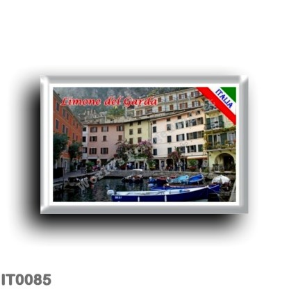 IT0085 Europe - Italy - Lake Garda - Limone del Garda (flag) - Port