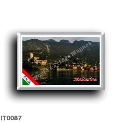 IT0087 Europe - Italy - Lake Garda - Malcesine - Panorama (flag)