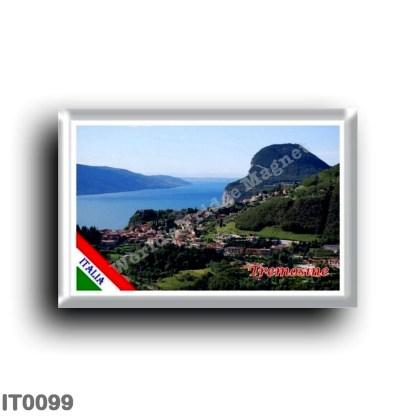 IT0099 Europe - Italy - Lake Garda - Tremosine - Panorama (flag)